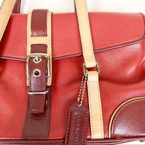 Coach Bags - Vintage red leather Coach mini bag